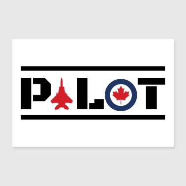 Nose Art Pilot Canada maple leaf - gift idea - 30x20 cm Poster