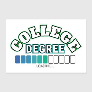 Student College Degree High School graduation status gift idea - 30x20 cm Poster