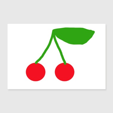 Cherry - Gift - Sweet - Fruit - 30x20 cm Poster