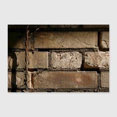 Lightning old wall - 30x20 cm Poster