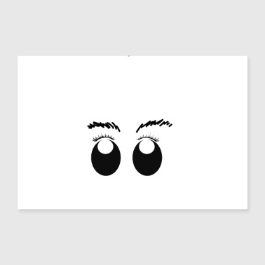 Eyelashes Eyelashes - eyebrows - eyebrows - gift idea - 30x20 cm Poster
