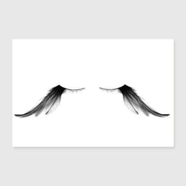 Eyelashes Eyelashes - Feather - Gift Idea - 30x20 cm Poster