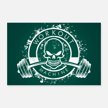 Workout Workout Machine - Skull Fitness Poster - Poster