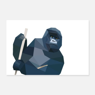 Piksel gorilla - Poster 30x20 cm