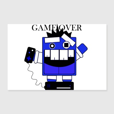 Gaming, Game Over Tippi - 30x20 cm Poster