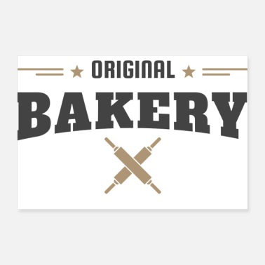 Baker Vintage Bakers Shop Bakery Gift Idea - Poster