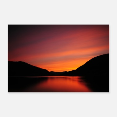 Norge Solnedgang i Norge - Poster 30x20 cm