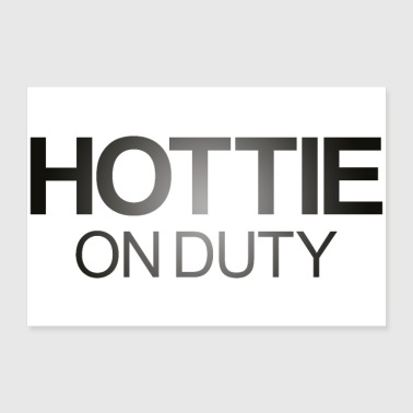 Hottie on Duty Lettering - Poster 30 x 20 cm