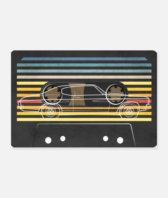 Vehicle Posters - 70's cassette car - Posters white