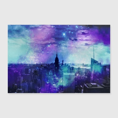 Watercolour New York City - 30x20 cm Poster