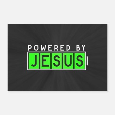 Bible Powered by Jesus Poster Mural - 30x20 cm Poster