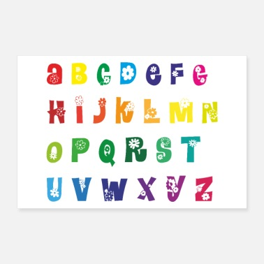 Back To School abc alphabet letters school lesson - Poster