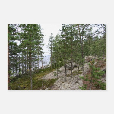 Beach Forest and beach - 30x20 cm Poster