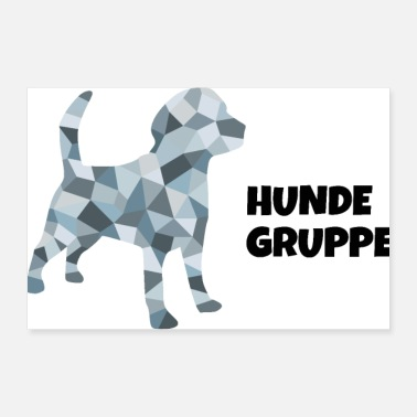 Group dogs group - 30x20 cm Poster