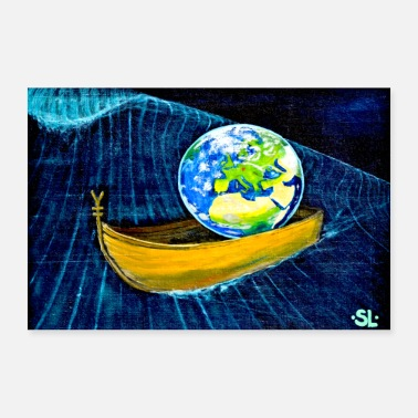 Philosophy All in one boat - 30x20 cm Poster