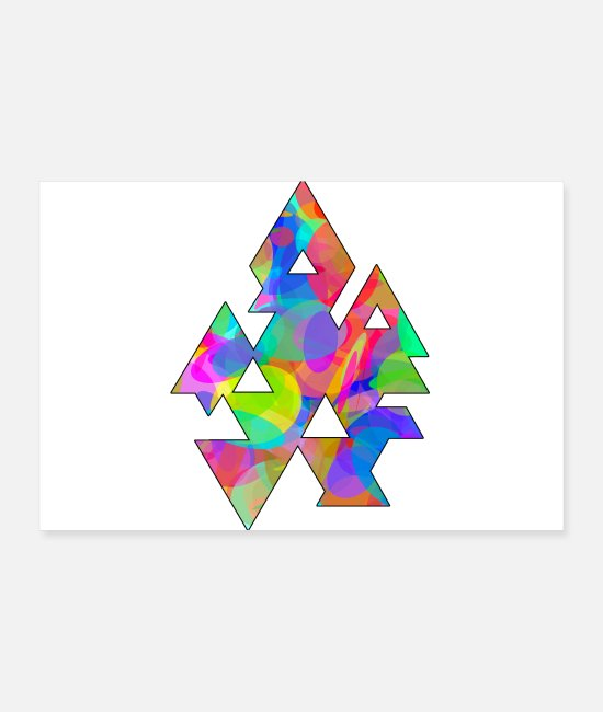 Circular Posters - Triangles and circles - Posters white