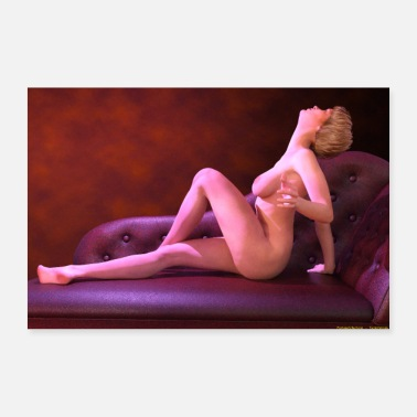 Bed NUDE OF WOMAN ON DORMOSA - 30x20 cm Poster