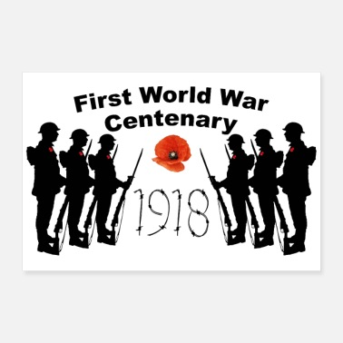 First World War Centenary - 30x20 cm Poster