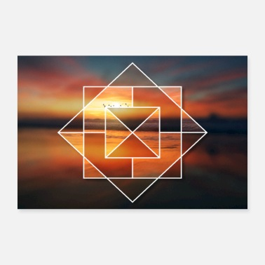 Lake Sunset at the lake - 30x20 cm Poster