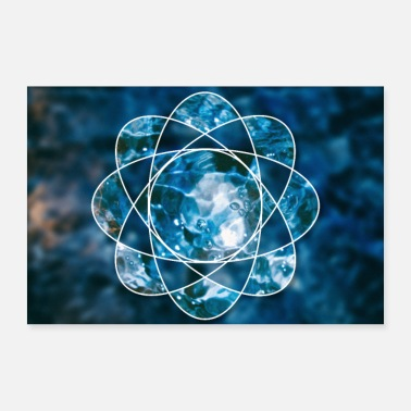 Atom Nature water fire atom - 30x20 cm Poster