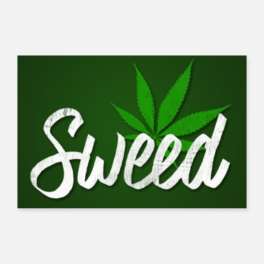 Hanf Affiche de cannabis Sweed - Poster 30 x 20 cm
