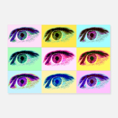 Eyes Colorful eyes - Poster