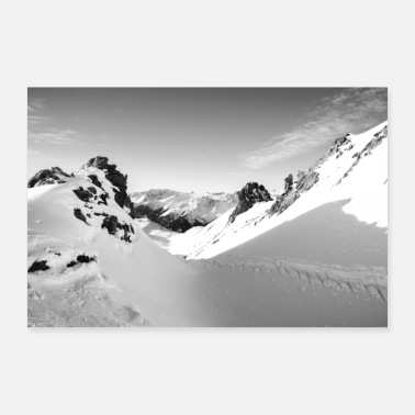 Austria Austria Mountain Winter Snow Mountain - 30x20 cm Poster