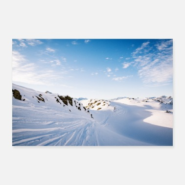Lumilauta Snowscape Mountain Mountain Winter - Juliste
