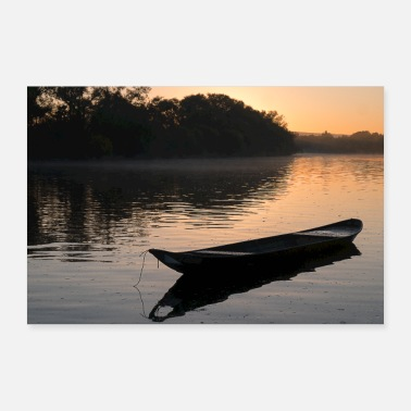 Boat Sunrise with boat - 30x20 cm Poster