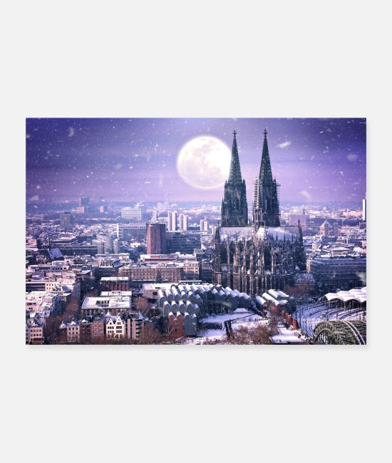 Koelsch Posters - Cologne en hiver - Posters blanc