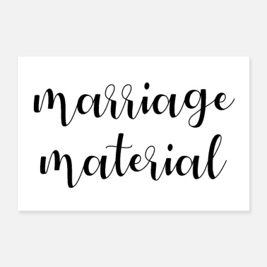Strip marrige material poster - Poster 30x20 cm