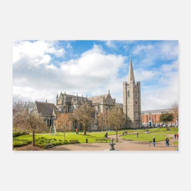 Irland Saint Patrick's Cathedral Dublin Irland Poster - Poster 30x20 cm