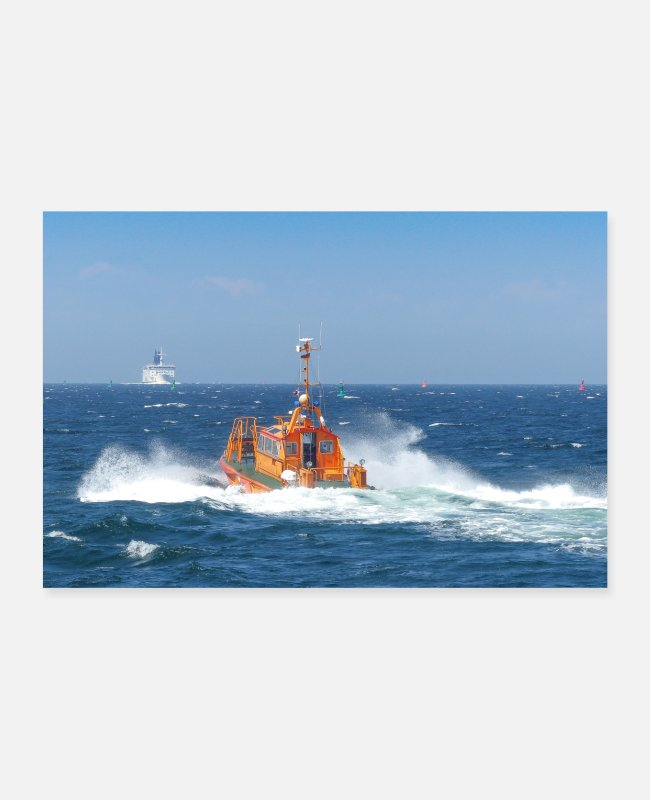 Trade Posters - Pilot boat on the way to the mission - Posters white