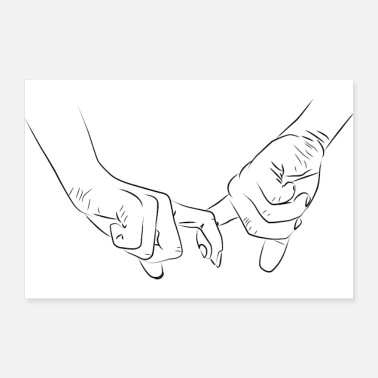 Couples Holding Hands Couple Romantic - Poster