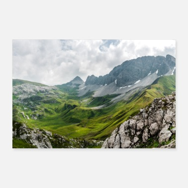 Large Rüfispitz, mountain peak in the Alps - 30x20 cm Poster