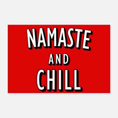 Chiller Affiches Namaste et Chill - Poster