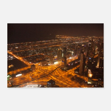 Traffic Traffic Lights of Dubai - 30x20 cm Poster