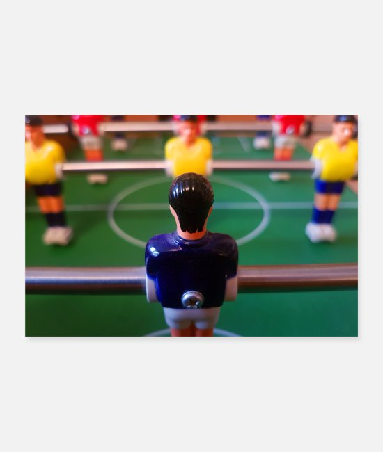 Play Posters - Foosball table hobby photo mural - Posters white