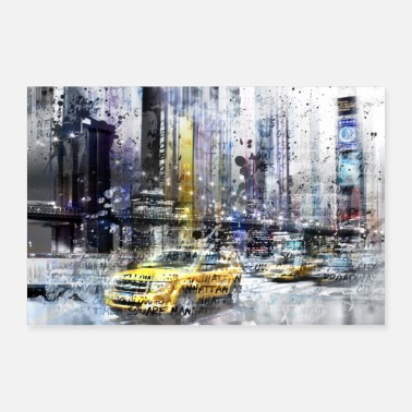 Nyc City Art NYC Collage - Poster