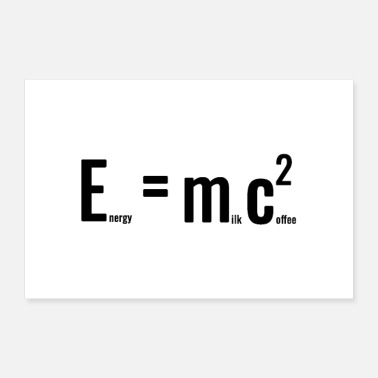 Education Culture Energy Milk Coffee - 30x20 cm Poster