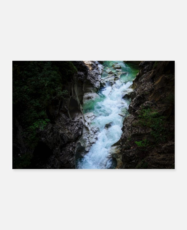 Nature Posters - Whitewater Canyon Natureporn Klamm - Posters white