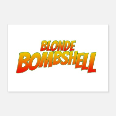 Icon Blonde Bombshell Comic Lettering Icon - Poster
