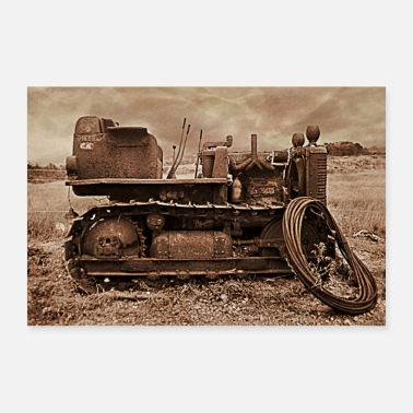 Tractor Farm Machinery - Too Old Now - Poster