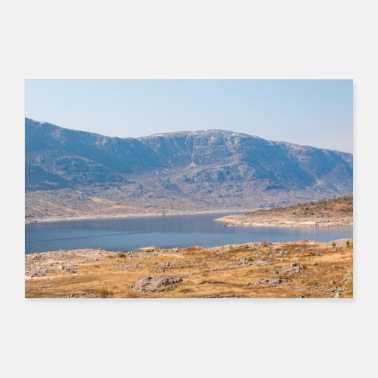 Great Highland Loch Garry Landscape Panorama Highlands Scotland - Poster
