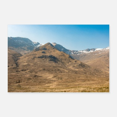 Scotland Typical Landscape Panorama Highlands Isle of Skye - Poster