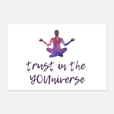 Spiritualität MINDSET POSTER Trust in the universe - Poster