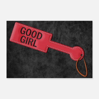 Penalty Good Girl Paddle BDSM Spanking poster - Poster