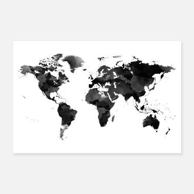 Maailmankartta Julisteet Verkkotilaus Spreadshirt