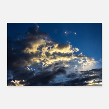 Lightning Bolt sky and clouds - Poster
