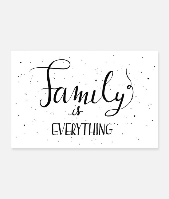 Friendship Posters - Family is everything - Handlettering - Posters white